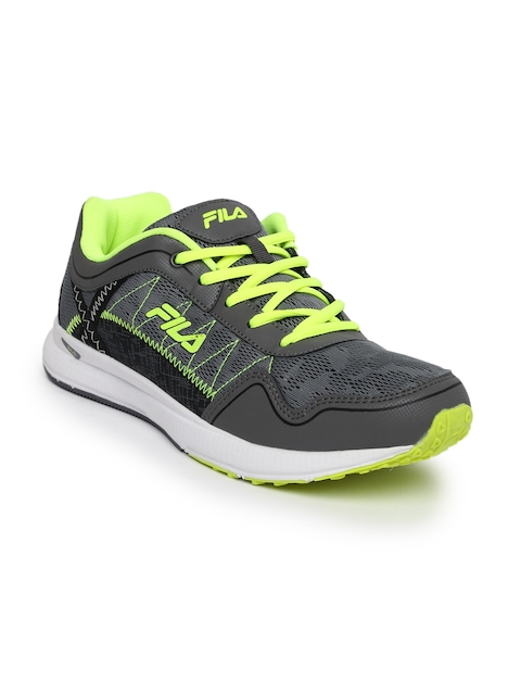 FILA Men Grey Synthetic Mid-Top Z SPEED Running Shoes