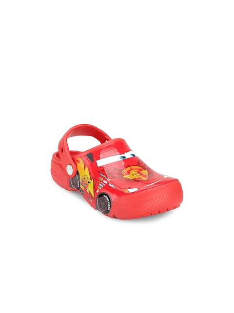 Crocs Girls Red Printed Clogs