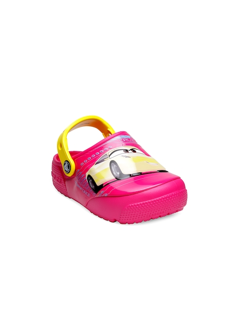 Crocs Girls Pink Printed Clogs