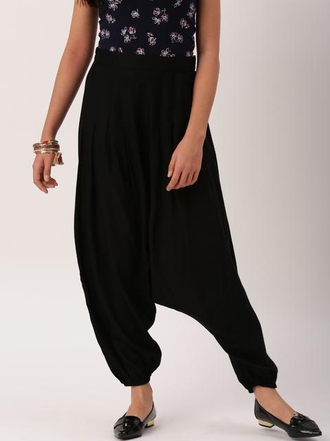 IMARA by Shraddha Kapoor Women Black Regular Fit Solid Jodhpuris