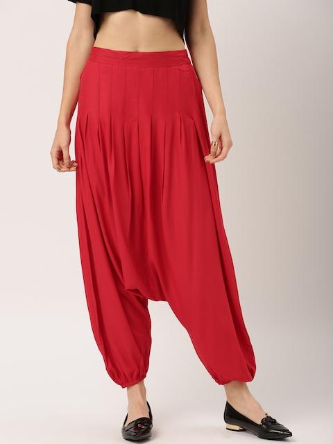 IMARA by Shraddha Kapoor Women Red Regular Fit Solid Jodhpuris