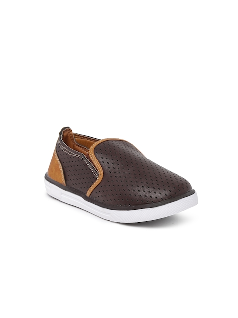Kittens Boys Brown Slip-On Sneakers