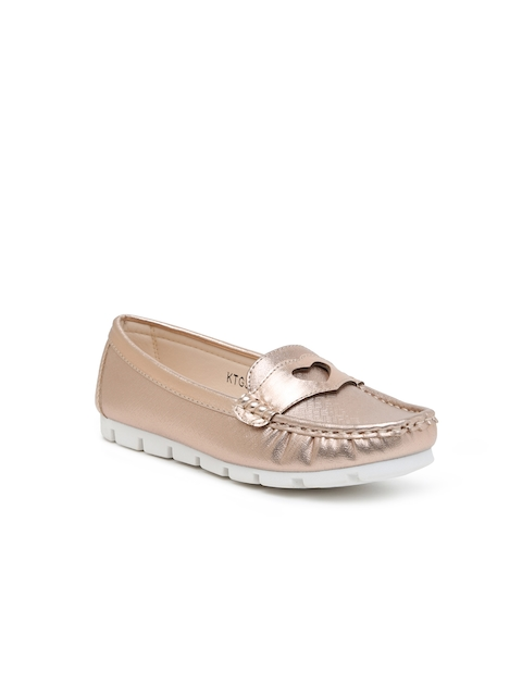 Kittens Girls Gold-Toned Loafers