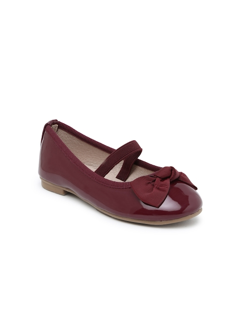 Kittens Girls Burgundy Ballerinas