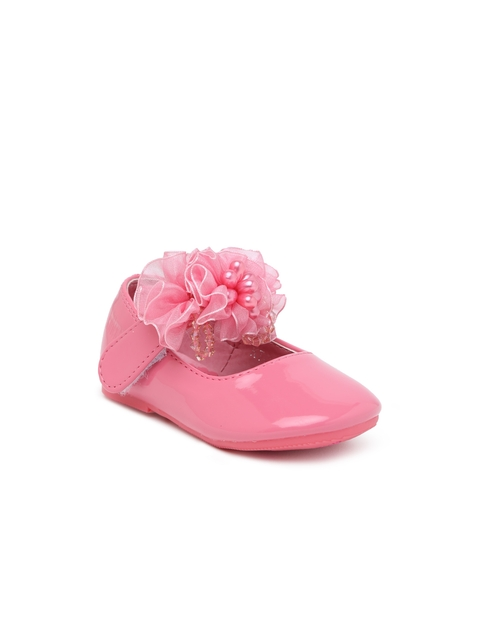 Kittens Girls Pink Solid Ballerinas