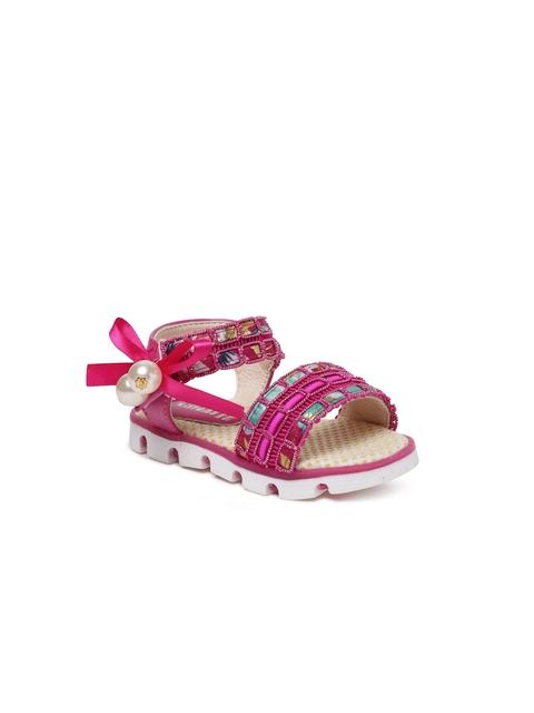 Kittens Girls Pink Embellished Sandals