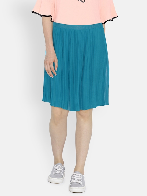 bae1369ce73a4 U.S. Polo Assn. Women Blue Flared Skirt