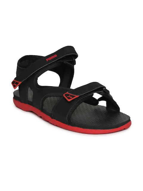 Puma Men Black & Red Elego 2 IDP Sports Sandals
