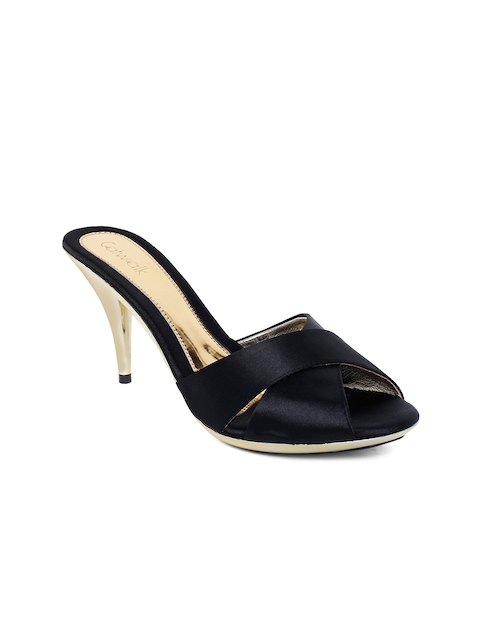 Catwalk - Stiletto - Catwalk Women Black Solid Peep Toes