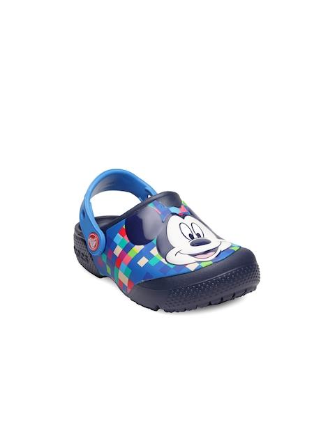 Crocs Boys Blue Mickey Mouse Print Clogs