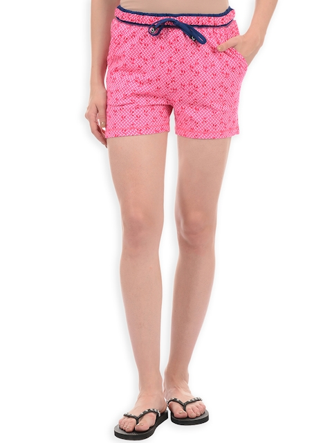 Sweet Dreams Women Pink Printed Lounge Shorts F-LLB-1132A