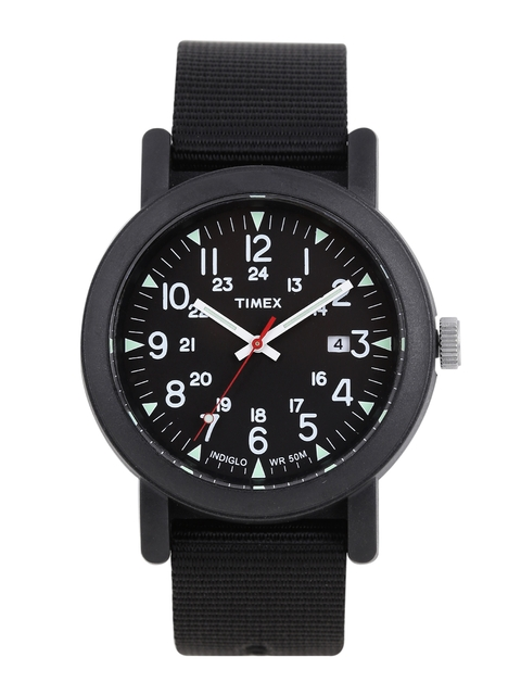Timex Men Black Analogue Watch T2N364