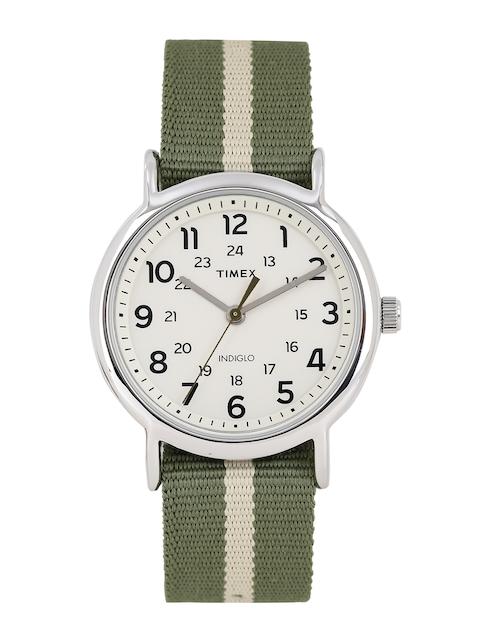 Timex Men Off-White Analogue Watch TW2P72100