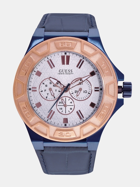GUESS Men Off-White Analogue Watch W0674G7