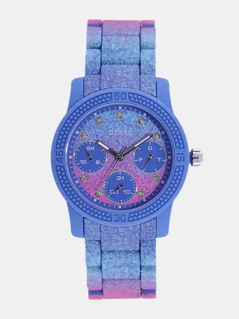 GUESS Women Blue & Pink Analogue Watch W0944L2