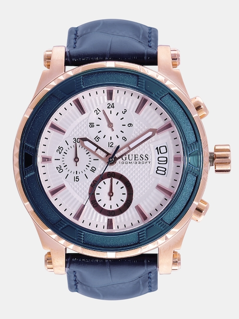 GUESS Men Off-White Chronograph Watch W0673G6