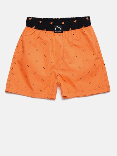 SDL by Sweet Dreams Boys Orange Printed Boxers BB-5907A7CO