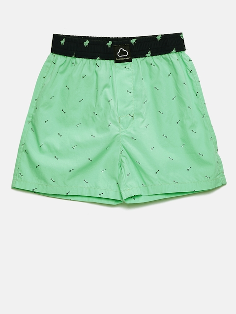SDL by Sweet Dreams Boys Green Printed Boxers BB-5907A7