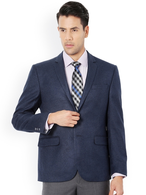 Van Heusen Blue Single-Breasted Slim Fit Blazer