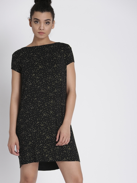 Chemistry Women Black Printed A-Line Dress