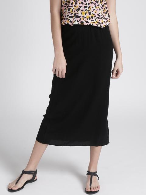Chemistry Black Midi Skirt