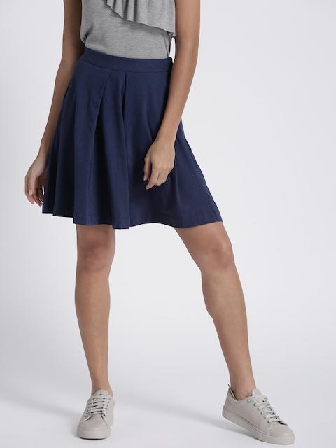 Chemistry Navy A-Line Flared Skirt