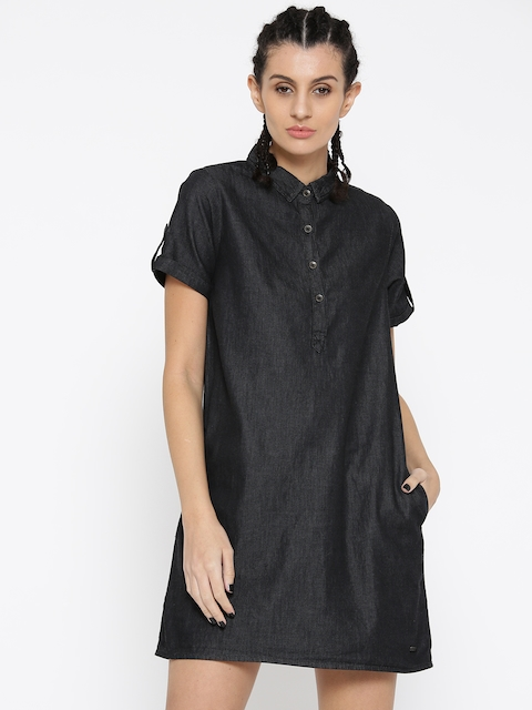 Roadster Women Black Printed Shirt Dress