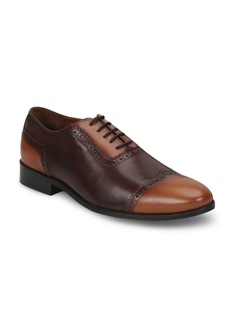 BRUNE Men Brown Genuine Leather Brogues