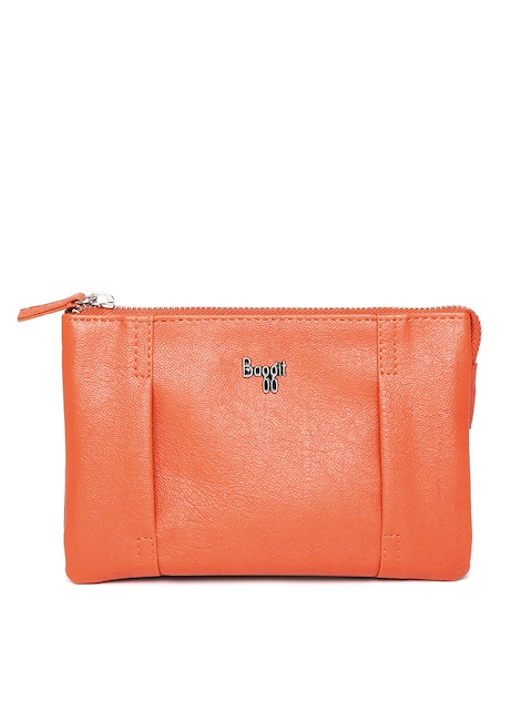 Baggit Women Orange & Brown Travel Pouch