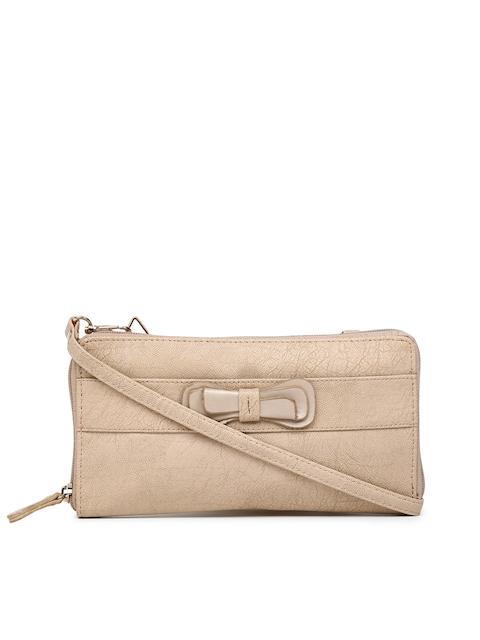 Baggit Women Beige Zip Around Wallet