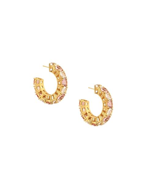 CONFLUENCE Crystals from SWAROVSKI Gold-Toned Isharya Egyptian Goddess Earrings