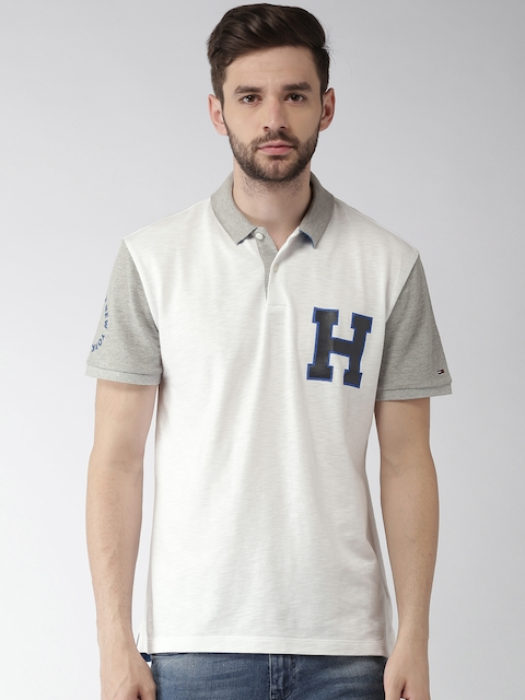 Tommy Hilfiger Men White Solid Polo T-Shirt