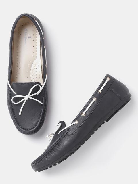 Mast & Harbour Women Navy Boat Shoes
