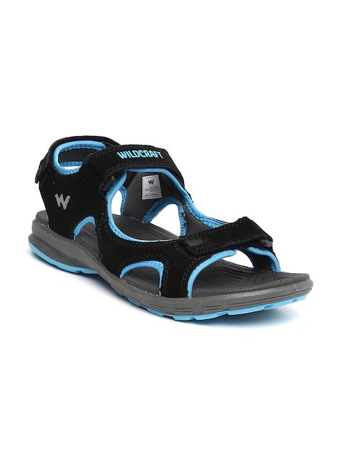 Wildcraft Men Black Suede Sandals