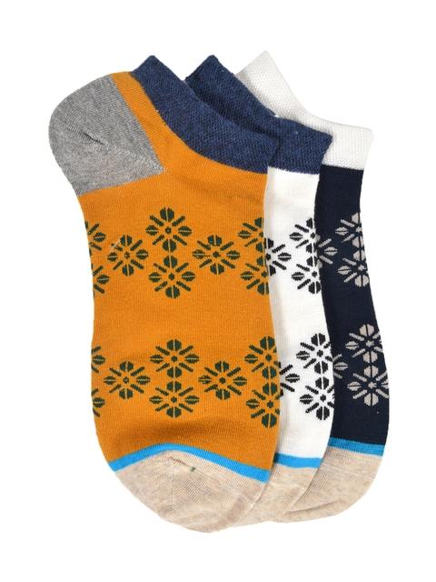 MARC Women Pack of 3 Patterned Ankle Length Socks