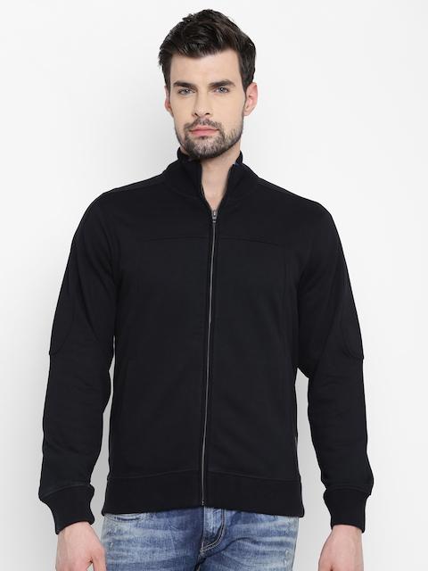 Louis Philippe Jeans Men Black Solid Sweatshirt