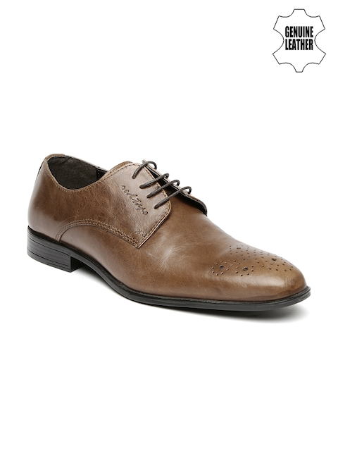 Red Tape Men Tan Brown Genuine Leather Formal Shoes