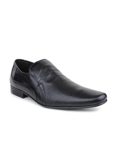 Red Tape Men Black Genuine Leather Semiformal Shoes