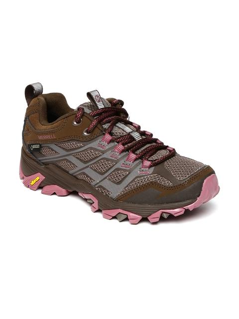 Merrell Women Grey & Brown MOAB FST GORE-TEX Trekking Shoes