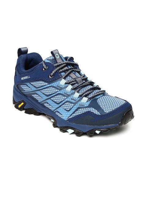 Merrell Women Blue MOAB FST Trekking Shoes