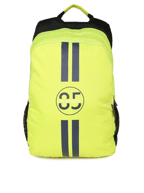 Tommy Hilfiger Unisex Fluorescent Green Graphic Backpack