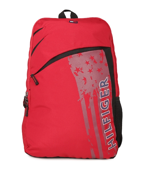 Tommy Hilfiger Unisex Red Brand Logo Backpack
