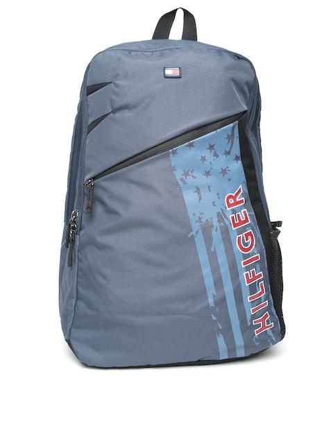 Tommy Hilfiger Unisex Navy Blue Brand Logo Laptop Backpack