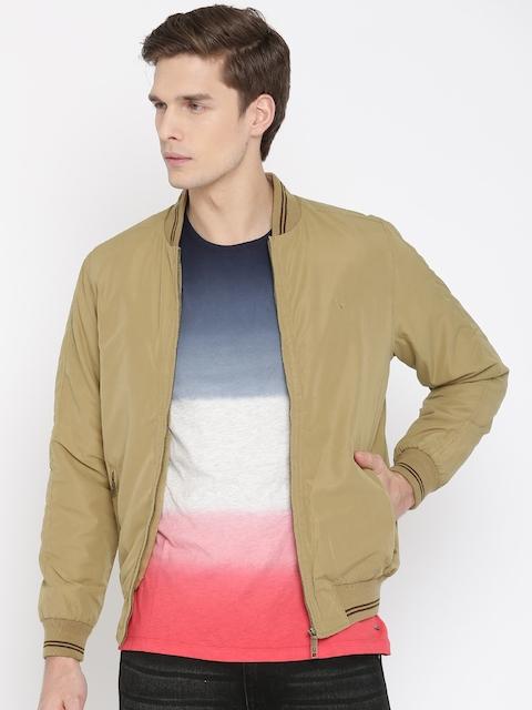 Allen Solly Men Khaki Solid Padded Jacket