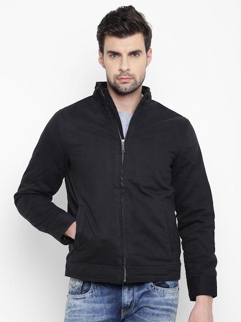 Allen Solly Men Black Solid Padded Jacket