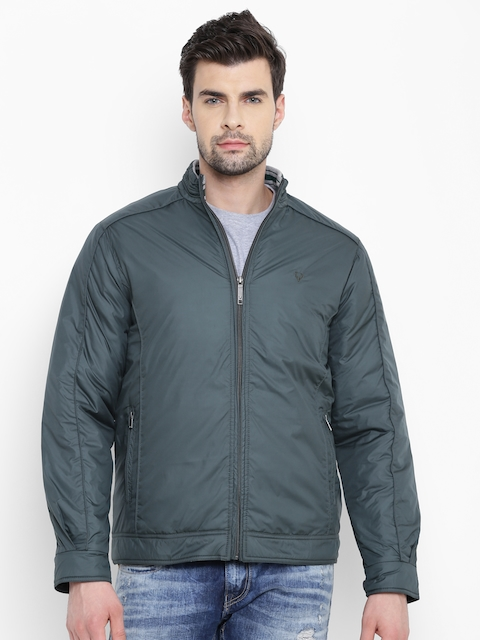 Allen Solly Men Green Solid Tailored Jacket