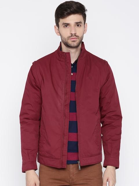 Allen Solly Men Maroon Solid Padded Jacket
