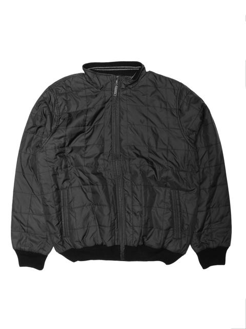 Allen Solly Men Black Solid Reversible Bomber Jacket