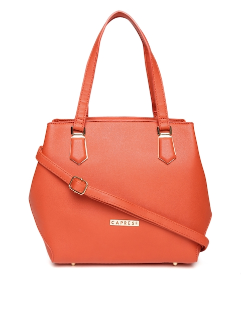 Caprese Red Solid Shoulder Bag with Sling Strap  available at myntra for Rs.1349