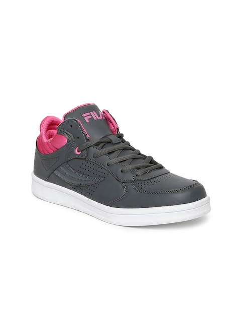 FILA Women Grey BRODEN Perforated Sneakers